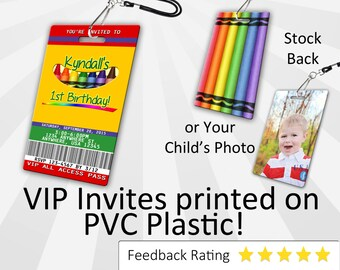 Crayon Invitation PLASTIC Crayon, Crayon Invitation, Birthday Invitation, Birthday Invite, Crayon Birthday Invitation SKU-INV074