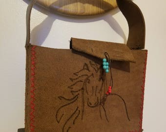 Small Tote Bag w Horse detail