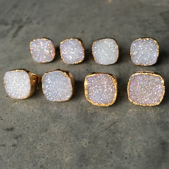 Druzy Earrings, boho jewelry, wedding jewelry, bridesmaids jewelry