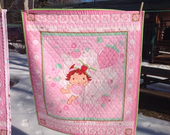 Strawberry Shortcake Baby Quilt and Nursing Cover Jacket