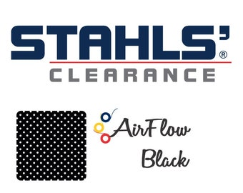"15"" x 5 Yards - Stahls' AirFlow - Perforated HTV - Craft Roll - Iron-on Heat Transfer Vinyl - HTV - Black"