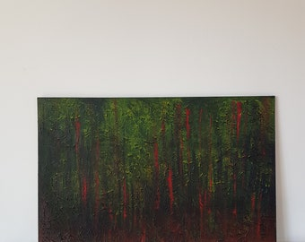 Abstract Art Painting Alien Forest Modern Luxury Art Home Office Decor Medium Size Canvas