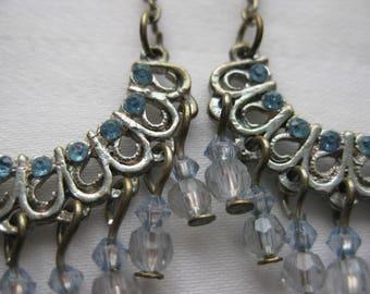 Baby Blue Chandelier Swing Earrings
