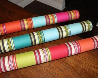 1 meter of 100% cotton twill striped multicolored