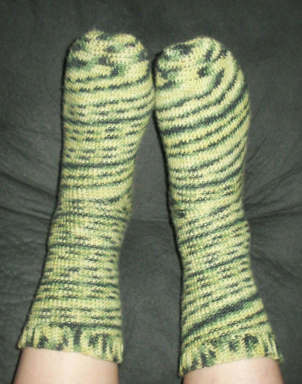 Crochet Socks Pattern PDF Instant Download Beginner Easy Toe Up Sock ...