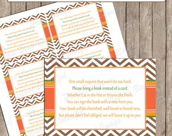 "Insert Card ""Book instead of a Card"" - Fall Baby Shower Invitation Insert Card - fall1  INSTANT DOWNLOAD"