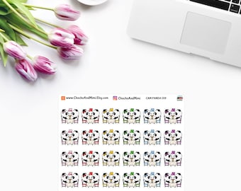 Amanda The Panda ~ DATE NIGHT ~ Time Planner Stickers CAM Panda 019