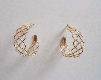 Braid Hoop Earrings 14k Gold Filled