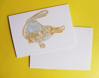Platypus A6 Greeting Card