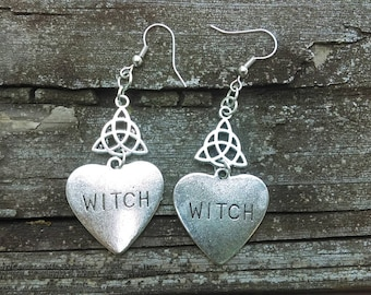 Triquetra witch earrings
