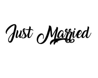 "Stickers ""Just Married 1"""