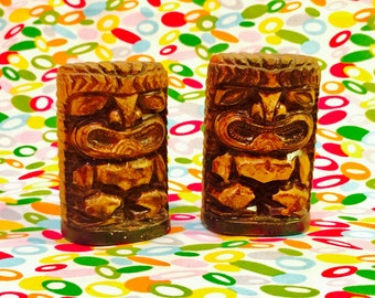 Tiki Souvenirs of Florida Salt and Pepper Shakers made in Japan circa 1950s