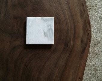 """Carrara Marble sous-verres 4 """"x 4» lot de 3"""