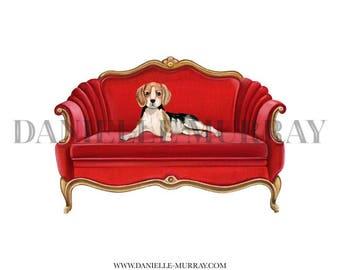 Royal Dog Print - Beagle, Labrador, Dachshund