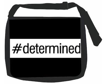 Determined - Hashtag - Black School Shoulder Messenger Bag