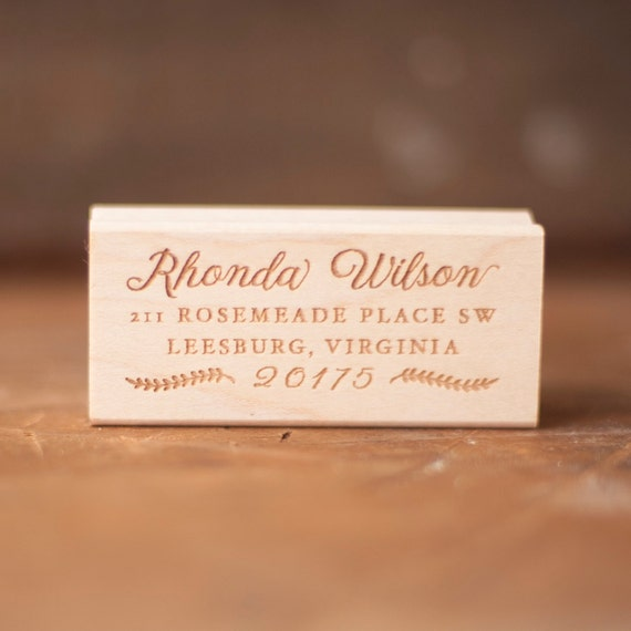 Rustic return address stamp, address rubber stamp, custom address stamp, personalized stamp, custom return address stamp, personalized gift