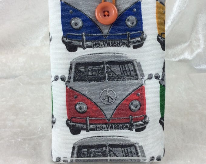 Handmade Phone Glasses Case Cover Pouch  VW Campers