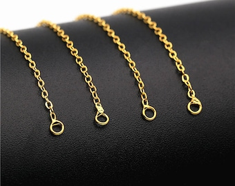 24K Gold Filled Metal Chain for DIY Necklace Jewelry Making- DY00197