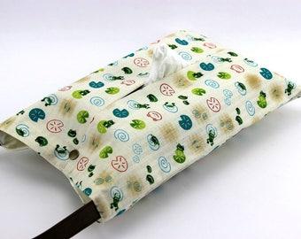 Cute Frogs Tissue box cover, Kleenex holder,Bedroom decor,Tissue box holder, White