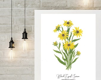 Black Eyed Susan Botanical Print