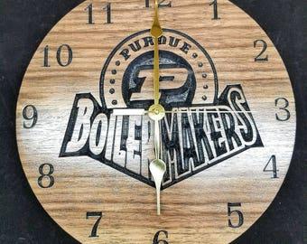 Purdue Boilermakers Clock