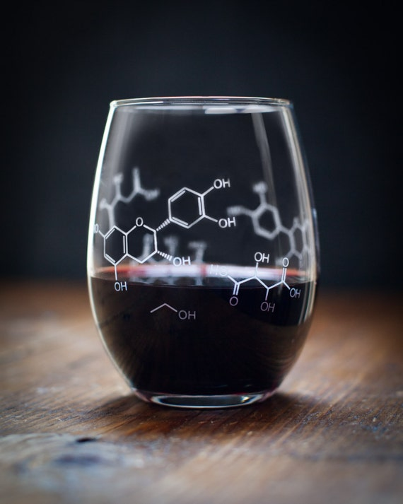 Wine Molecule Stemless Glass