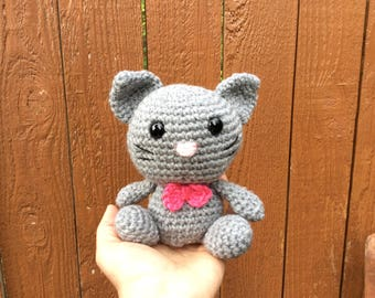 Amigurumi cat, crochet cat toy, Little cat,Stuffed cat, Gato tejido, Soft toy,Handmade cat toy, Crochet kitty