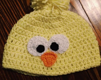 Crocheted Chick Baby Hat