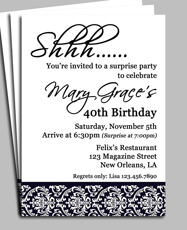 surprise party invitations - Ins.ssrenterprises.co
