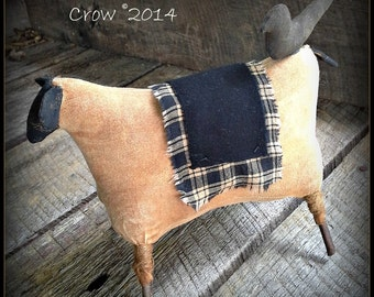 Prim Sheep with Crow E pattern