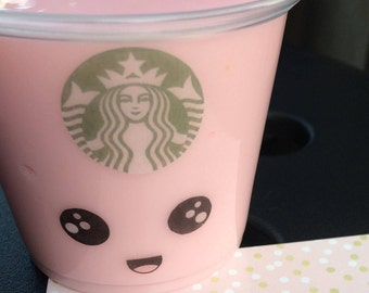 Starbucks Strawberry Frappuccino 5 oz. (140 g) Scented Pink Slime Fluffy Slime Therapy Tools Extras Included