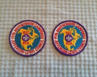 1976 Brotherhood Camporee Jefferson-Lewis Council Patch