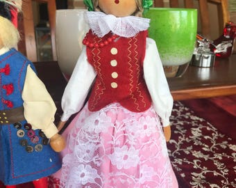 Two adorable antique/vintage-collectible dolls.