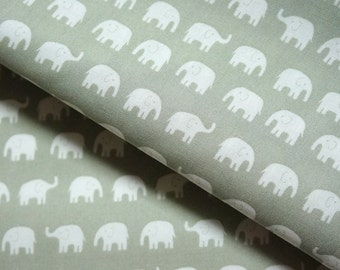 Elephant fabric  Tiny Elephant Half Meter 19.6 by 42 inches