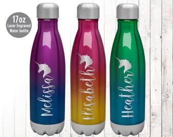 Unicorn Water Bottle Etsy