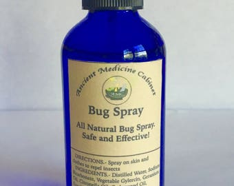 Bug Spray All Natural Safe Outdoors Two Sizes