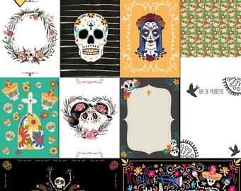 Dia De Muertos Journal Cards, Day of the dead project life cards, Digital journal cards, Instant download, Dia De Muertos printable cards