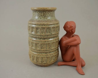 Vintage vase made by Scheurich / 268 15 / Decor Tundra | West German Pottery | 60s