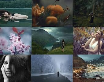 set of 3 art 10x15cm prints / 3 art prints