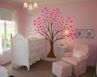 Nursery Tree Large Wall Forest Kids Decal Branches and Leaves 1135 (7 feet tall)
