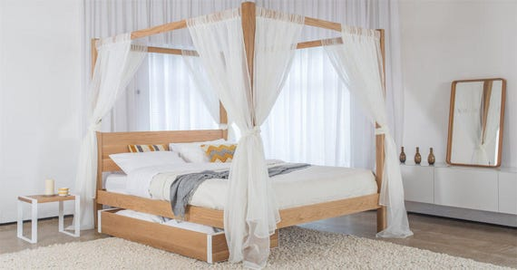 Four Poster Classic Wooden Bed Frame By Get Laid Beds