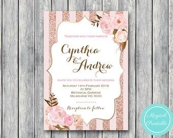 Personalized Wedding Invitations, Bridal shower invitation, Printable Wedding, Personalized Invitation, Wedding Invitation wd90 WI32