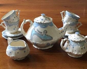 Cinderella Have Courage Be Kind  //  Tea set for Little girls //  Child's sized tea Set, handpainted // princess tea party