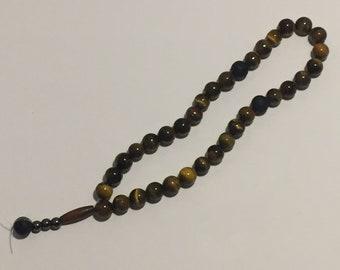 Tiger's Eye Meditation Beads