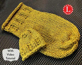 Loom Knit Pattern for Baby Cocoon for Newborn and Preemie with Step by Step Video Tutorial