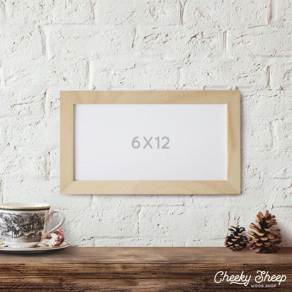 6x12 Picture Frame Wood Frame Art frames Home Decor Picture Frame ...