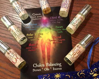 Chakras - 7 Perfume Set - Limited Edition Original Fragrances - Love Potion Magickal Perfumerie