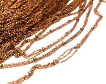 10/50meters Tiny Triple Cable BALL Satellite Chain Soldered Link 1.1x1.3mm