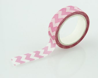 Pink Chevron Pattern Washi Tape // 15mm // Paper Tape // BBB supplies // CR-W-C020