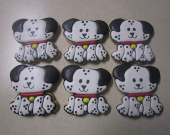 1 Dozen Dalmatian Hand Decorated Cookies